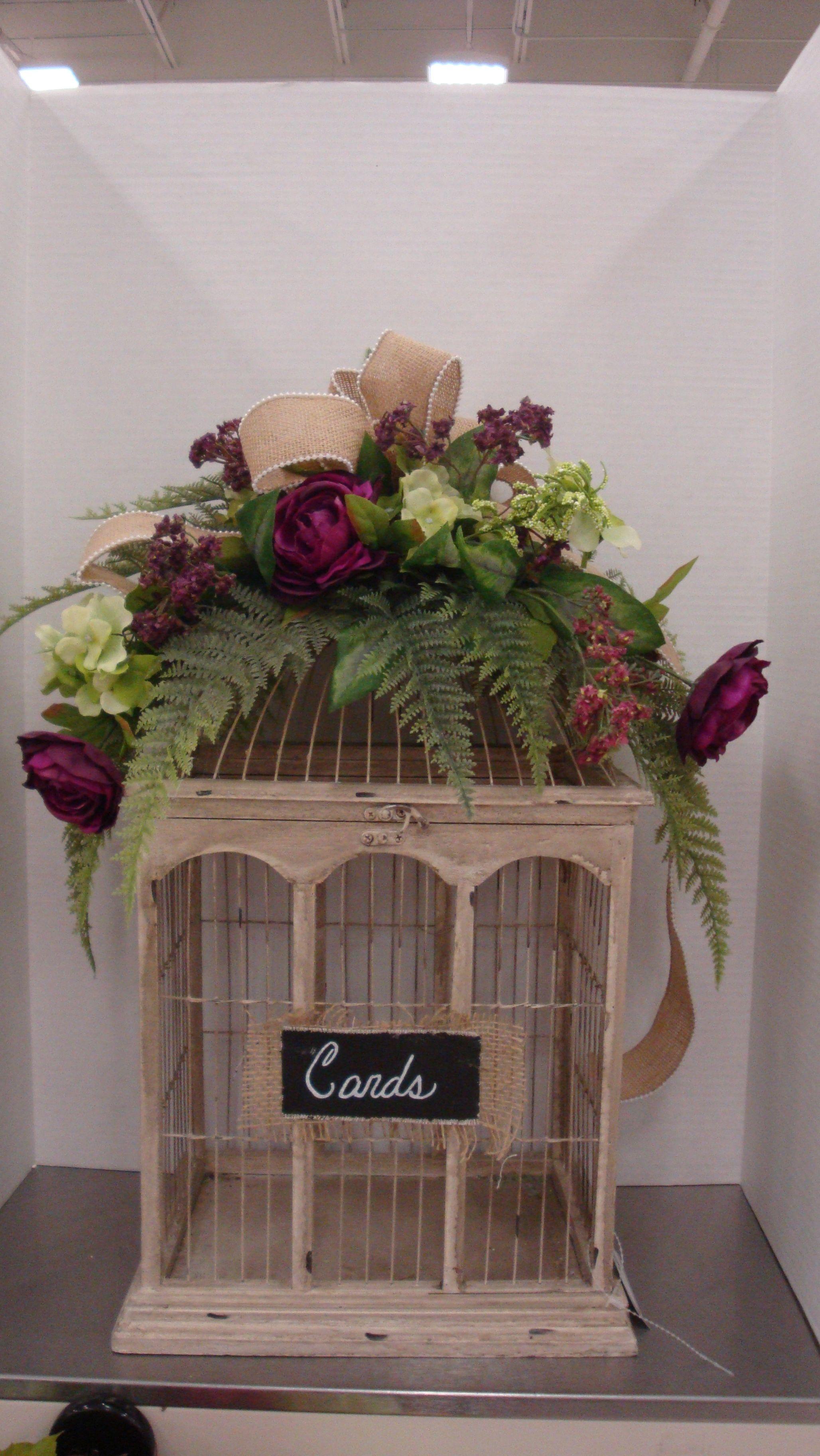 Wedding Birdcage Card Holder an original design by Christine
