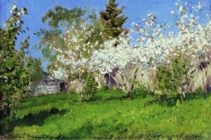 Apple Trees in Bloom - Isaac Levitan - The Athenaeum