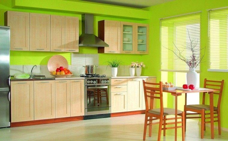 Resultado De Imagen Para Cocina Verde Y Anaranjada Cocinas