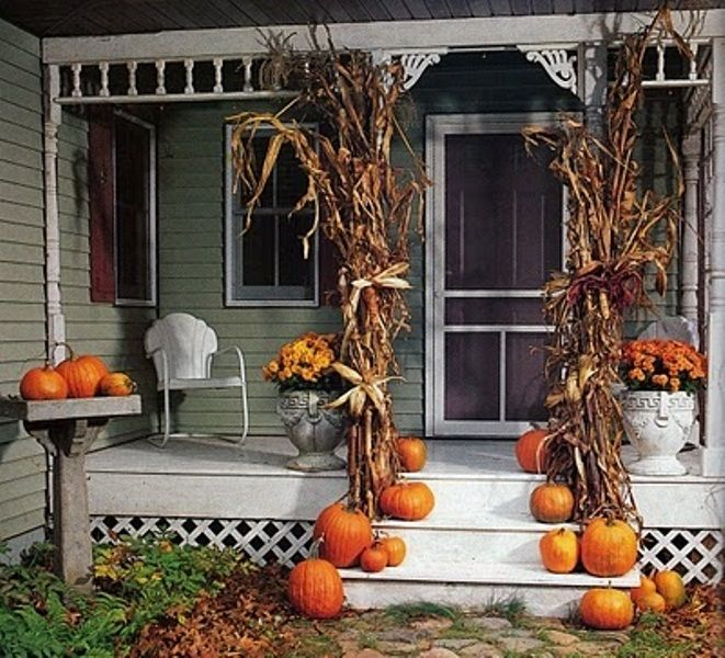 autumn porch decorating ideas 45 cute and cozy fall and halloween porch dcor ideas - Halloween Porch Decorating Ideas