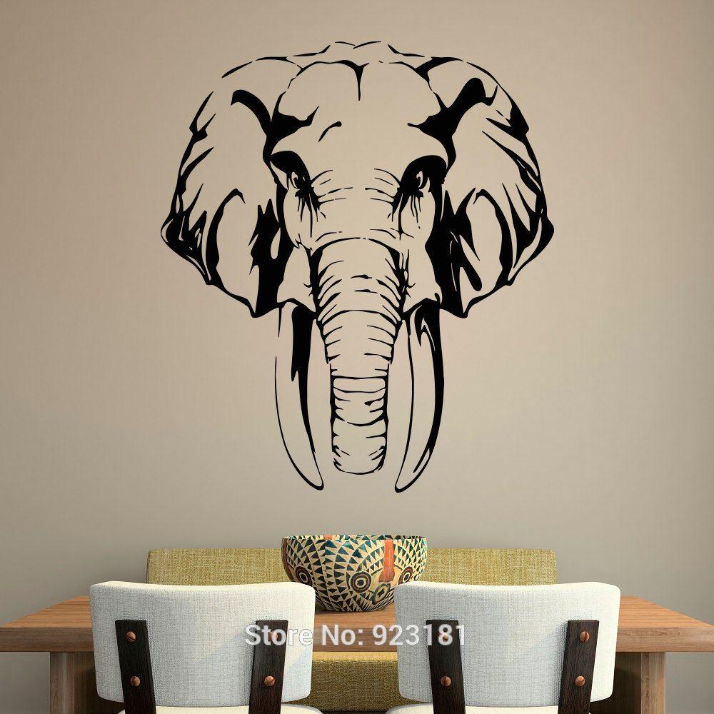 Ae01 Alicdn Com Kf Htb1jam7jpxxxxxhxpxxq6xxfxxx1 Font B Safari B Font Jungle Elephant African Animals Fo Jungle Wall Art Elephant Wall Decals African Wall Art