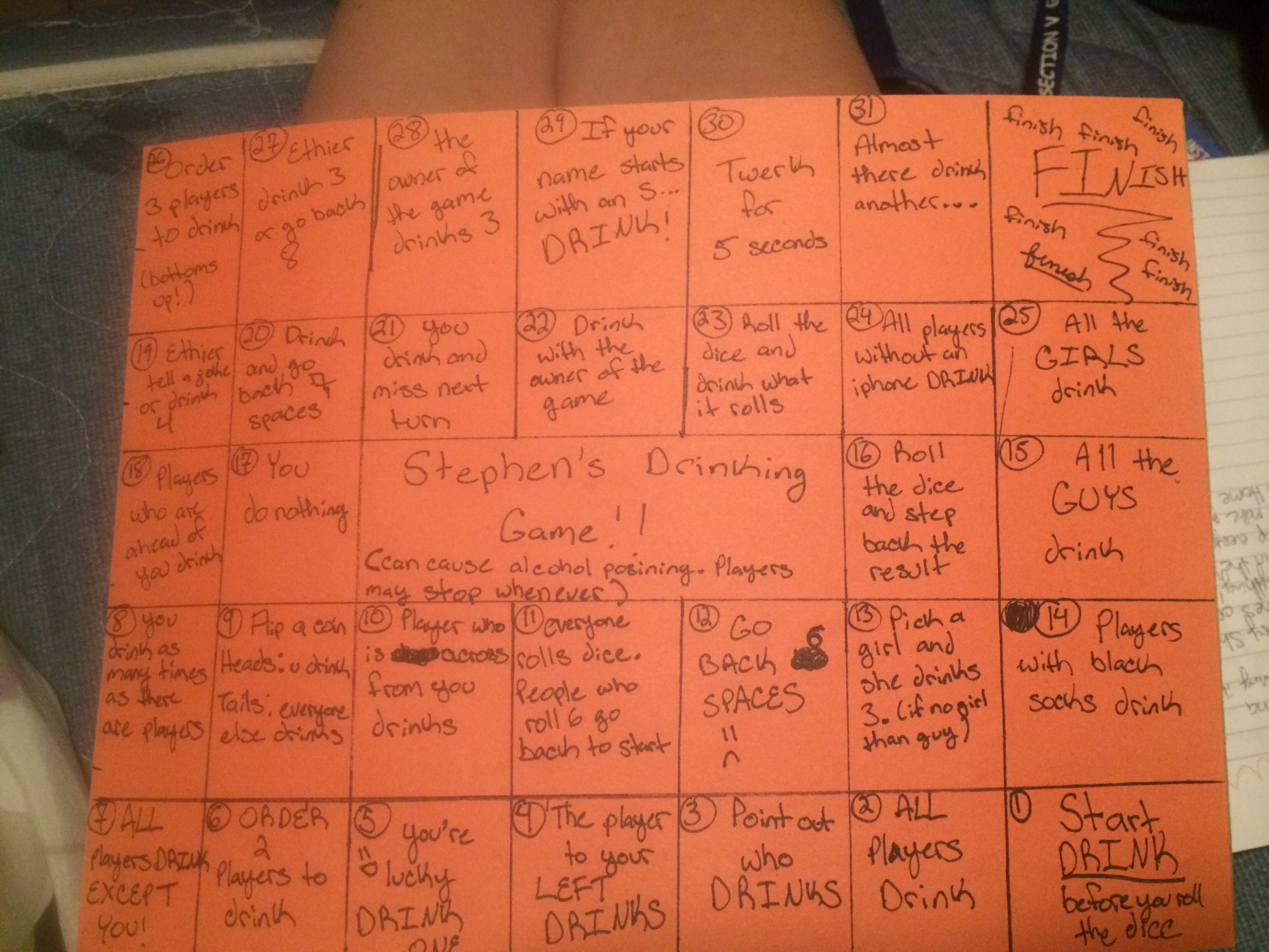 This a DIY Drinking Game. All you need is a piece of paper