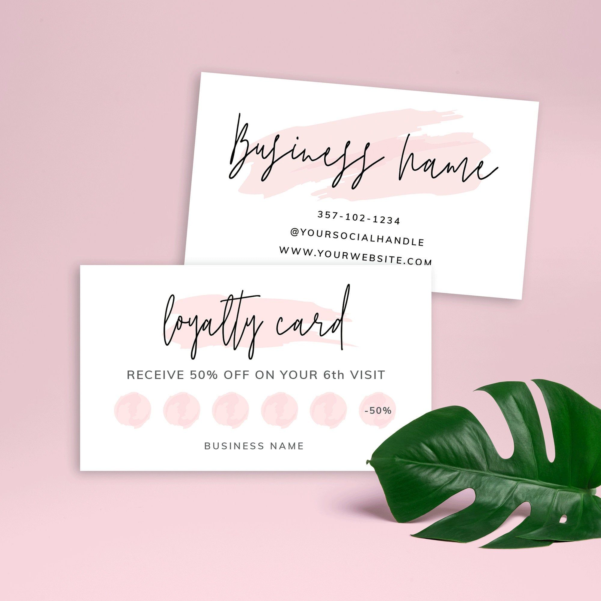 Printable Loyalty Card Beauty Loyalty Card Template Editable Etsy Loyalty Card Template Customer Loyalty Cards Loyalty Card Design