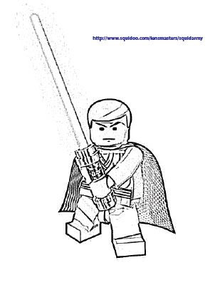 All About Lego Star Wars Coloring Pages Obiwan