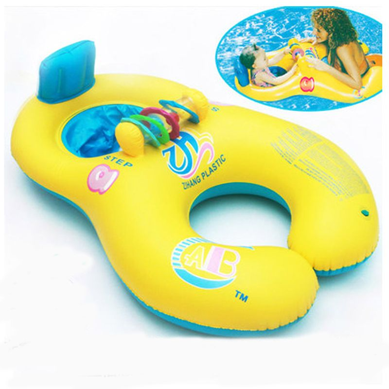 Geniune New Hot Selling Mother &Baby Swim Ring With Color Bells Paternity Thick Environment Friendly Circle