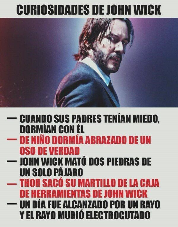 No Sabias Esto De John Wick John Wick Meme Funny Memes Memes