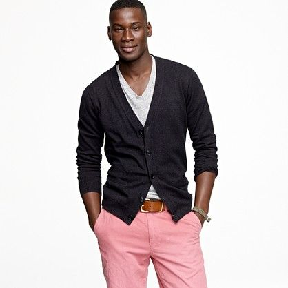 I'm not going for the pink pants, but I do like the cardigan look... $69.50.