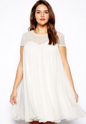 171b3ff0d vestidos para gorditas color blanco …