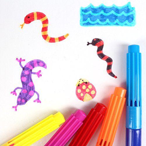 8 x Assorted Magic Colour Swap Change Fibre Pens School Art Felt Tip Colouring