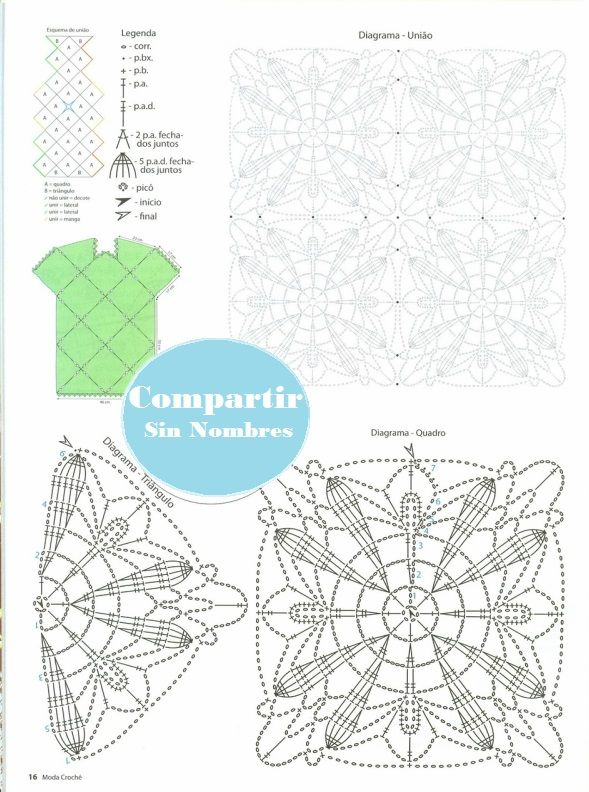 Mint Green Dress with Applique Pattern - Crochet Patterns | Knit and ...
