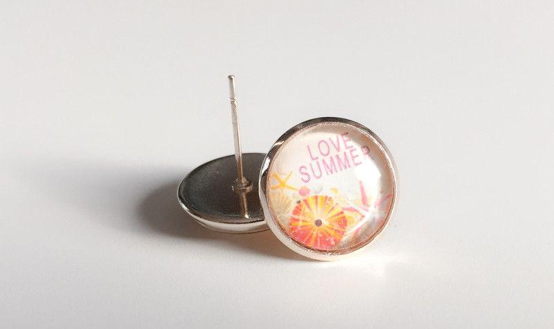 """Glas Ohrstecker - Handmade Ohrstecker """"Love Summer"""" - ein Designerstück von Soulmate-Works bei DaWanda"""