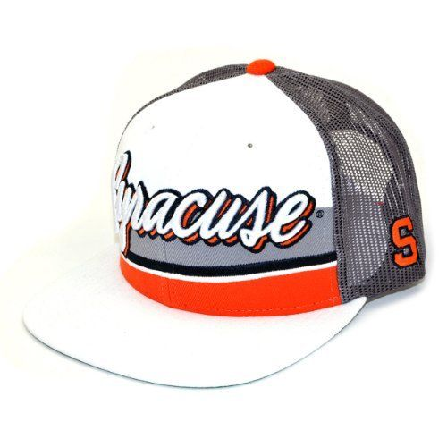 huge selection of 724bc b3d40 NCAA Syracuse Orange B-Boy Adjustable Snapback Cap, White Grey, One Size
