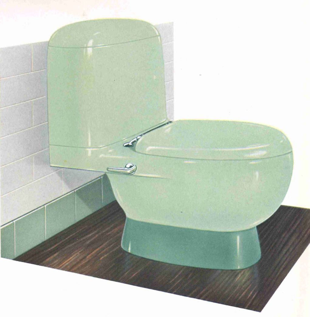 The Evolution of Colored Bathroom Fixtures | Old House Online ...