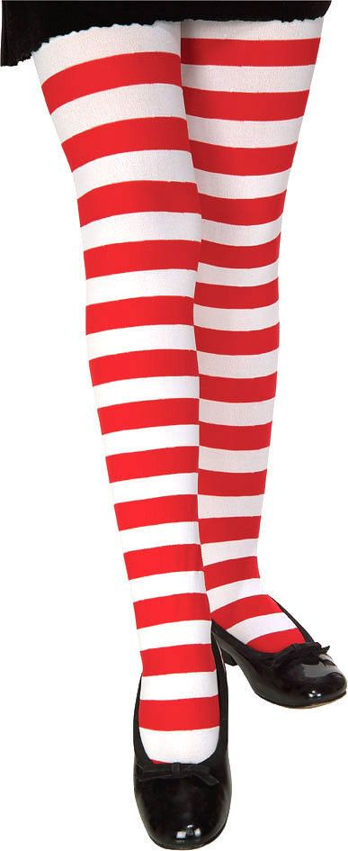 Rubie/'s Costume Co Child Pink//Black Striped Tights Costume Large