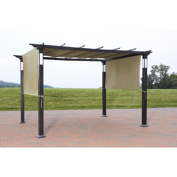 NEW 8 x 10 LED Lighting Steel Pergola Garden Patio Gazebo Outdoor Shed Canopy Up  sc 1 st  Pinterest & NEW 8 x 10 LED Lighting Steel Pergola Garden Patio Gazebo Outdoor ...