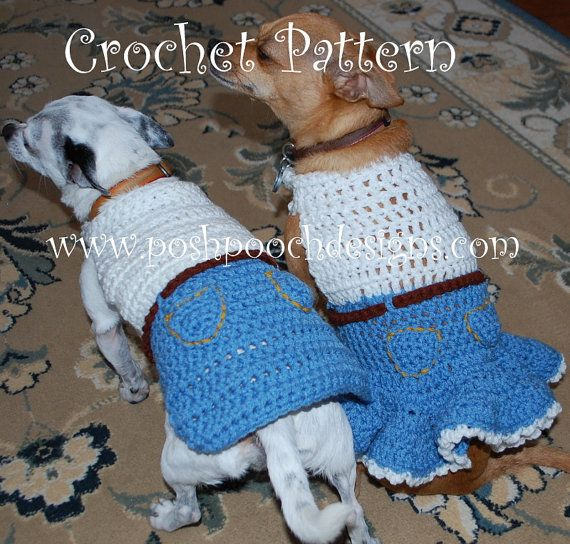 Instant Download Crochet Pattern Dog Sweater By Poshpoochdesigns