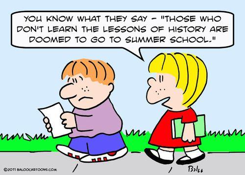 history cartoons Cartoon children learn lessons history (medium