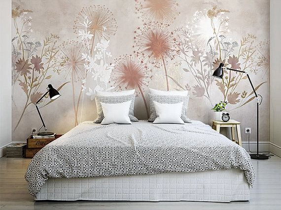 Custom Listing for Barbara Summer Dandelion by DreamyWall - tapete für schlafzimmer