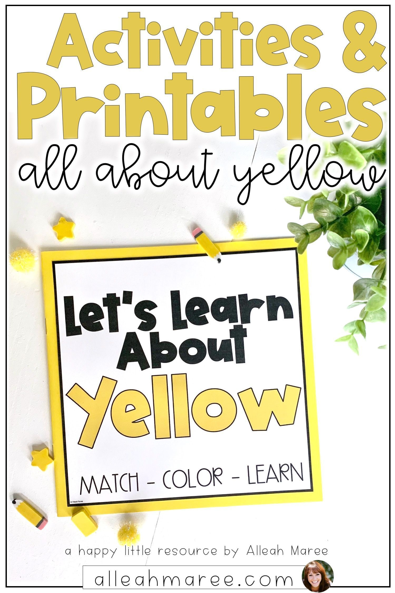 Toddler Busy Books Color Activities And Printables Yellow