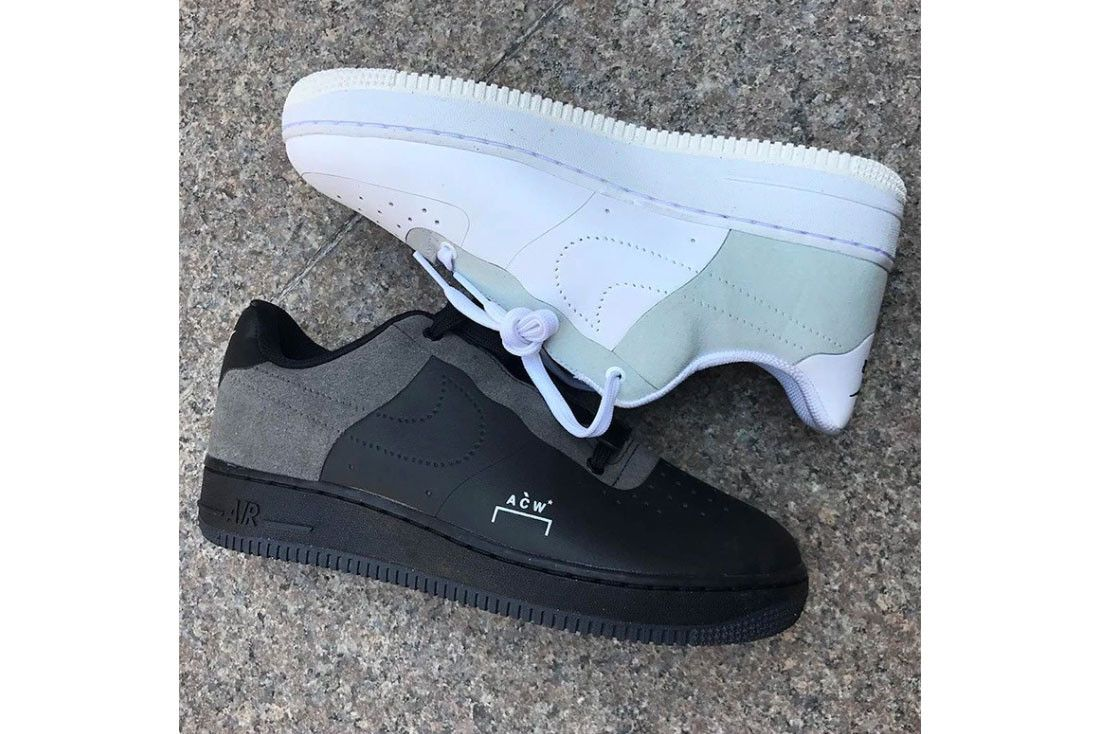 quality design 456ee 340ea A COLD WALL Nike Air Force 1 Low Black Colorway Grey Leather Suede Samuel  Ross White