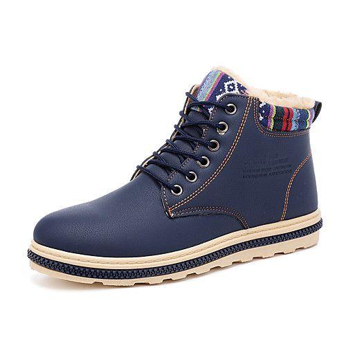 Hombre Zapatos Cuero Nobuck Primavera / Otoño Confort Zapatillas de Atletismo Marrón / Azul / Caqui bFgyylx6L