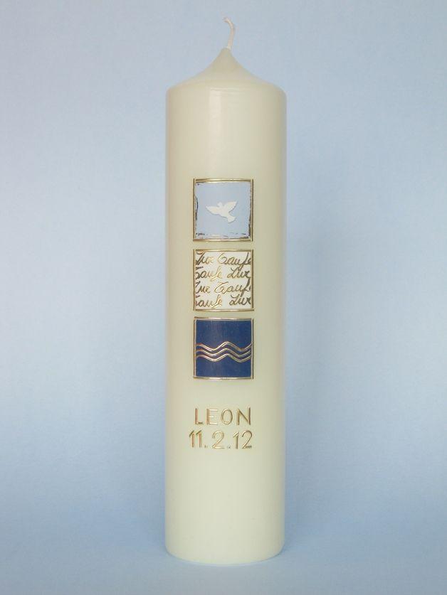 Taufkerzen - Taufkerze Nr. 310 - ein Designerstück von claudia-slanzi bei DaWanda