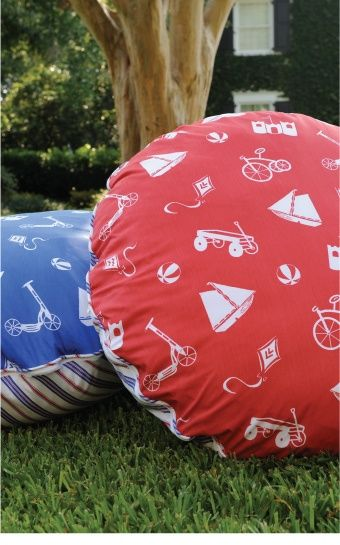 Make these in outdoor fabric for porch/kids movie nights. love these big cozy floor pillows!