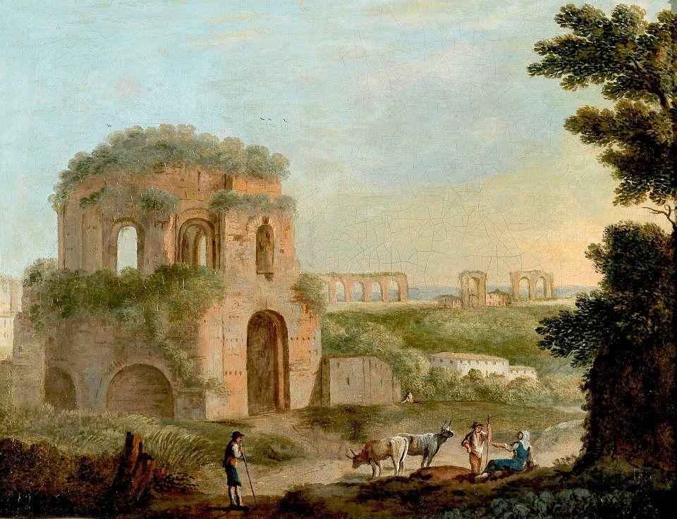 Paolo anesi veduta con il tempio di minerva medica e un acquedotto paolo anesi veduta con il tempio di minerva medica e un acquedotto fandeluxe Images