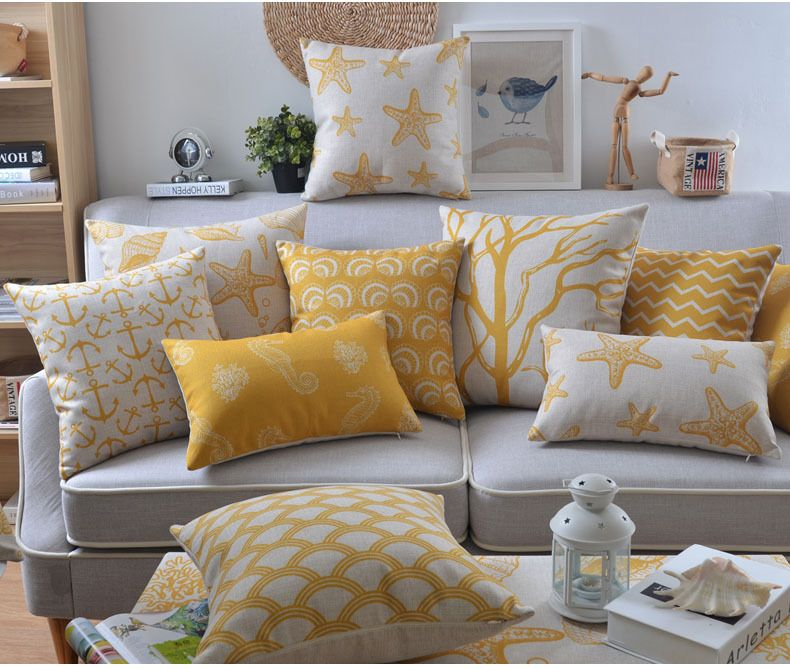 Best Yellow Decorative Pillow Case Gemotric Cushion Cover 640 x 480