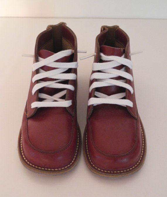 2b988a3e1f199 1950's Rare Red Leather High Top Jumping Jack Shoes by BabyTweeds ...