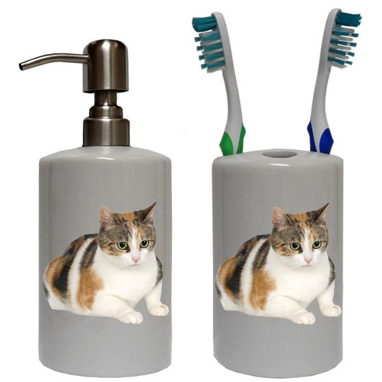 Calico Cat Bathroom Set Sets