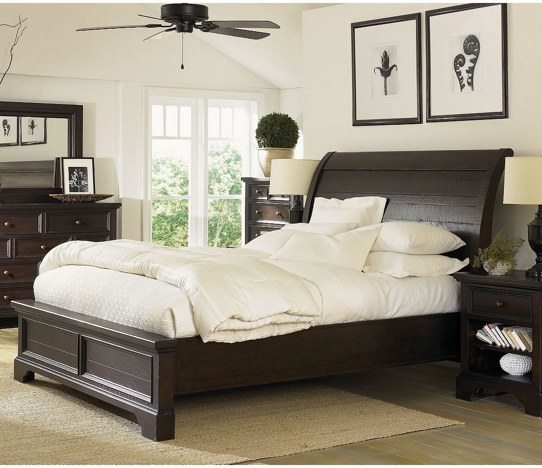 Aspen Home Bayfield Sleigh Bed Bedroom Furniture Sets Master Bedrooms Decor Mahogany Bedroom