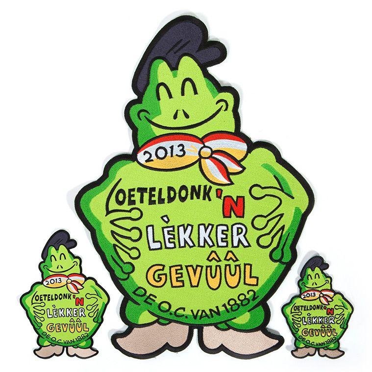 Emblemen in 3 formaten 'n Lekker gevuul' voor Oeteldonk 2013.