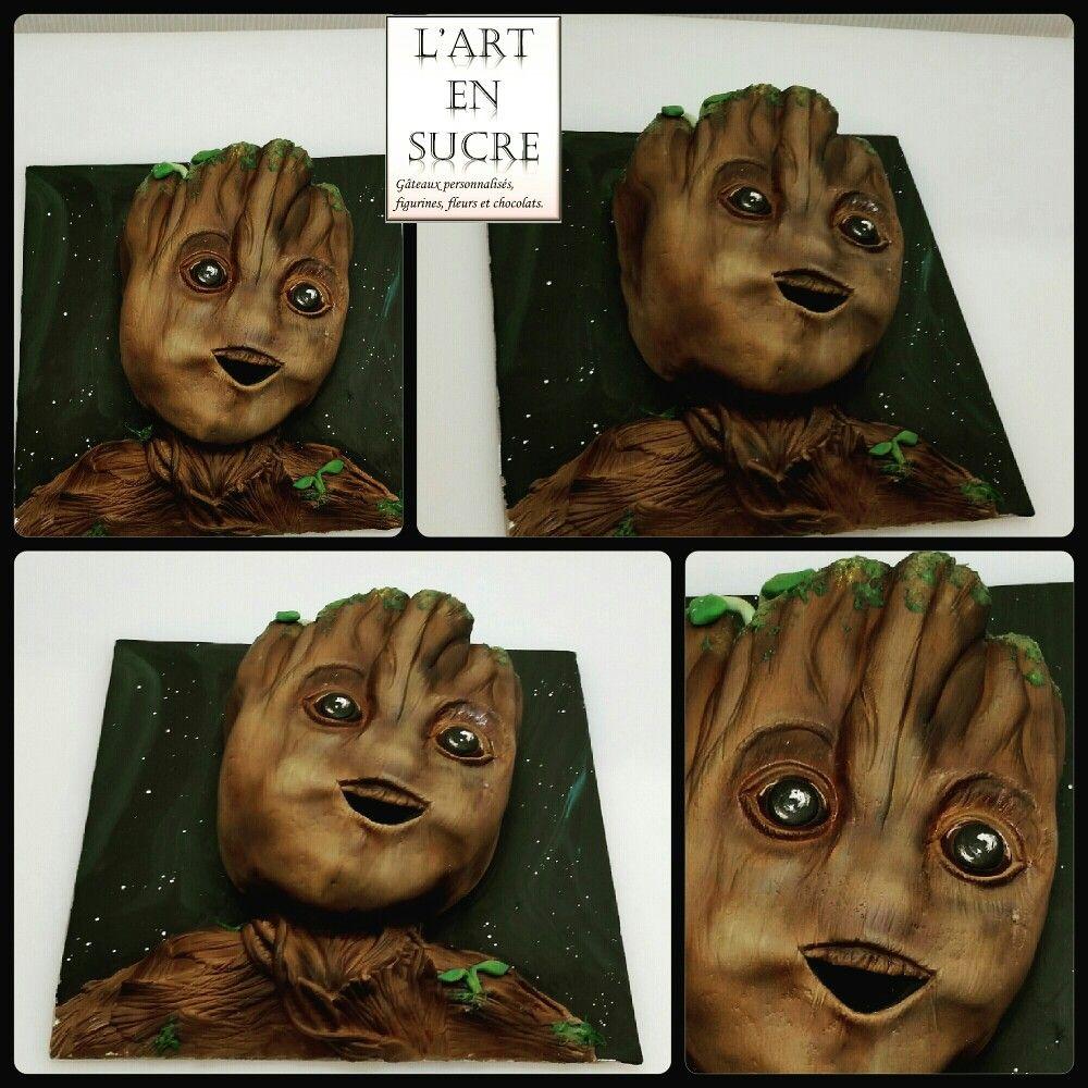Voici ma version  de bébé Groot en 2d entièrement commestible ! 😉