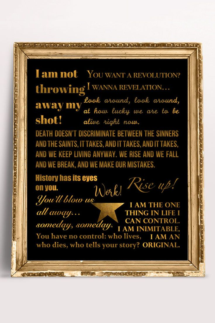 graphic about Hamilton Lyrics Printable referred to as Hamilton the Musical Prices / Lyrics Poster in just Black and