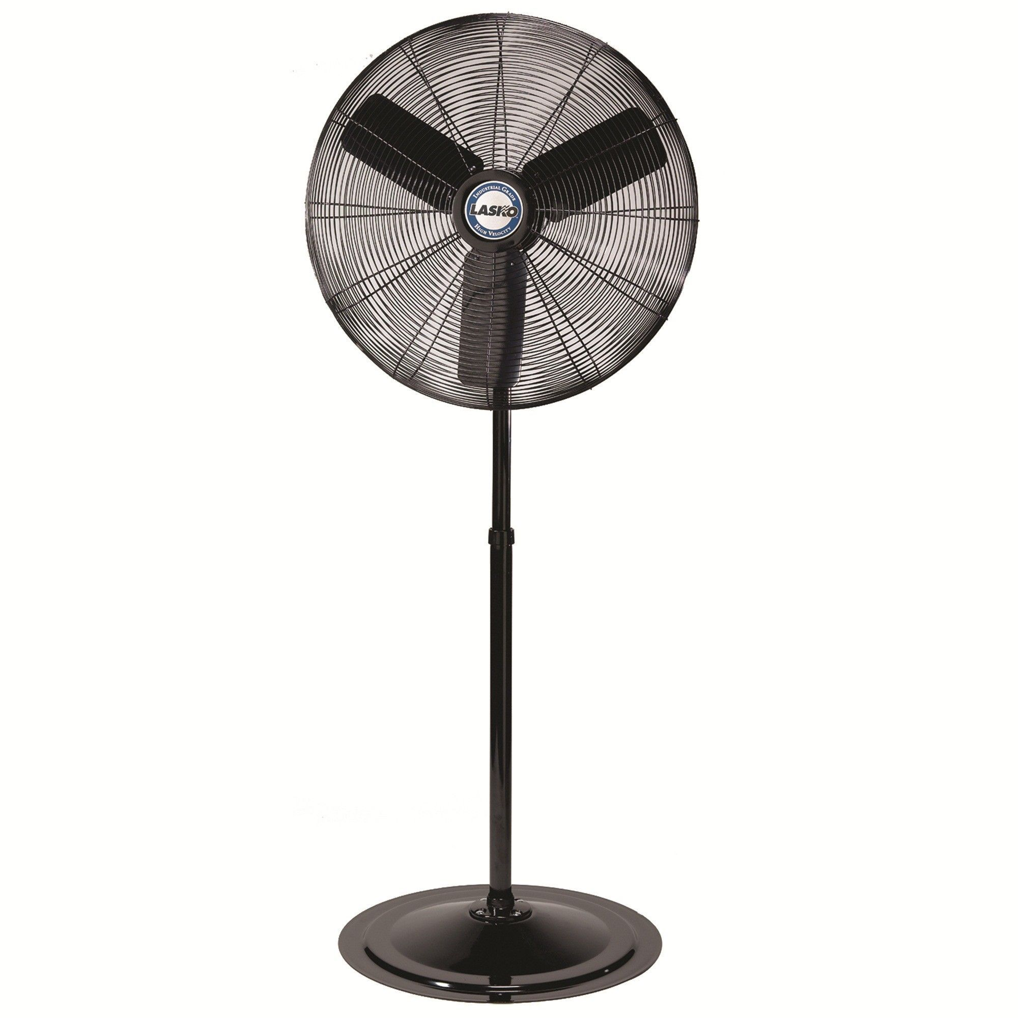 commercial in fans fan height adjustable gray powder oscillating p coating electric pedestal