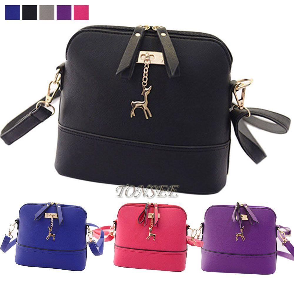 2b58c5798f4f Women Messenger Bags Vintage Small Shell Leather Handbag Casual Shoulder Bag