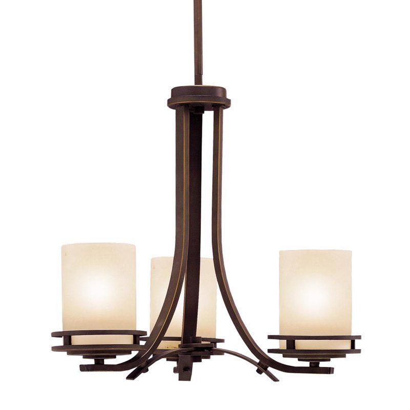 Buy the kichler olde bronze direct shop for the kichler olde bronze hendrik 3 light wide chandelier with satin etched glass shades and save