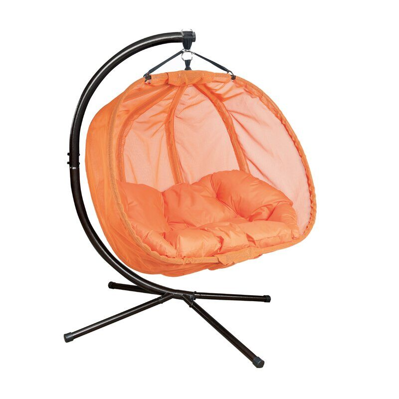 Flowerhouse pumpkin double swing chair with stand