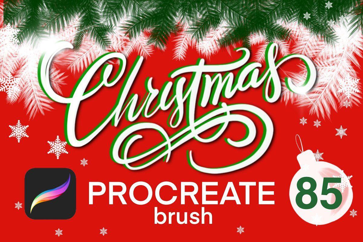 Christmas Procreate Brush Set Procreate Brushes Procreate Brushes Free Christmas Icons