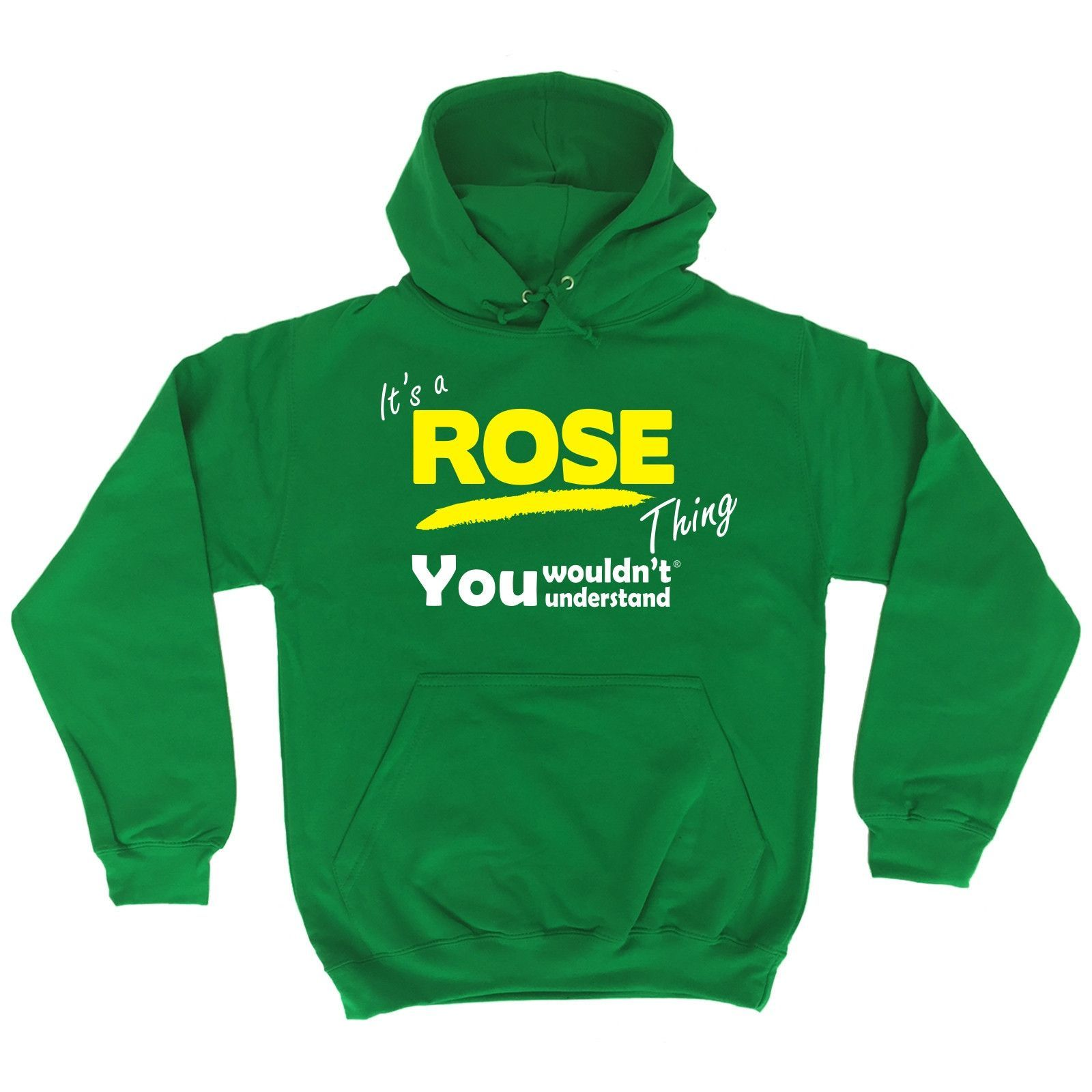 123t USA It's A Rose Thing You Wouldn't Understand Funny Hoodie