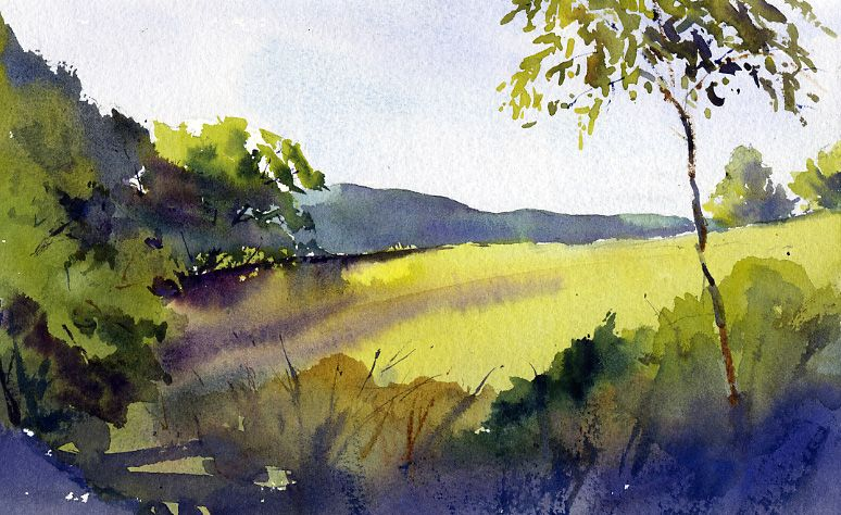 "Morning Light From Carpenter Hill Road"" – plein air landscape ..."