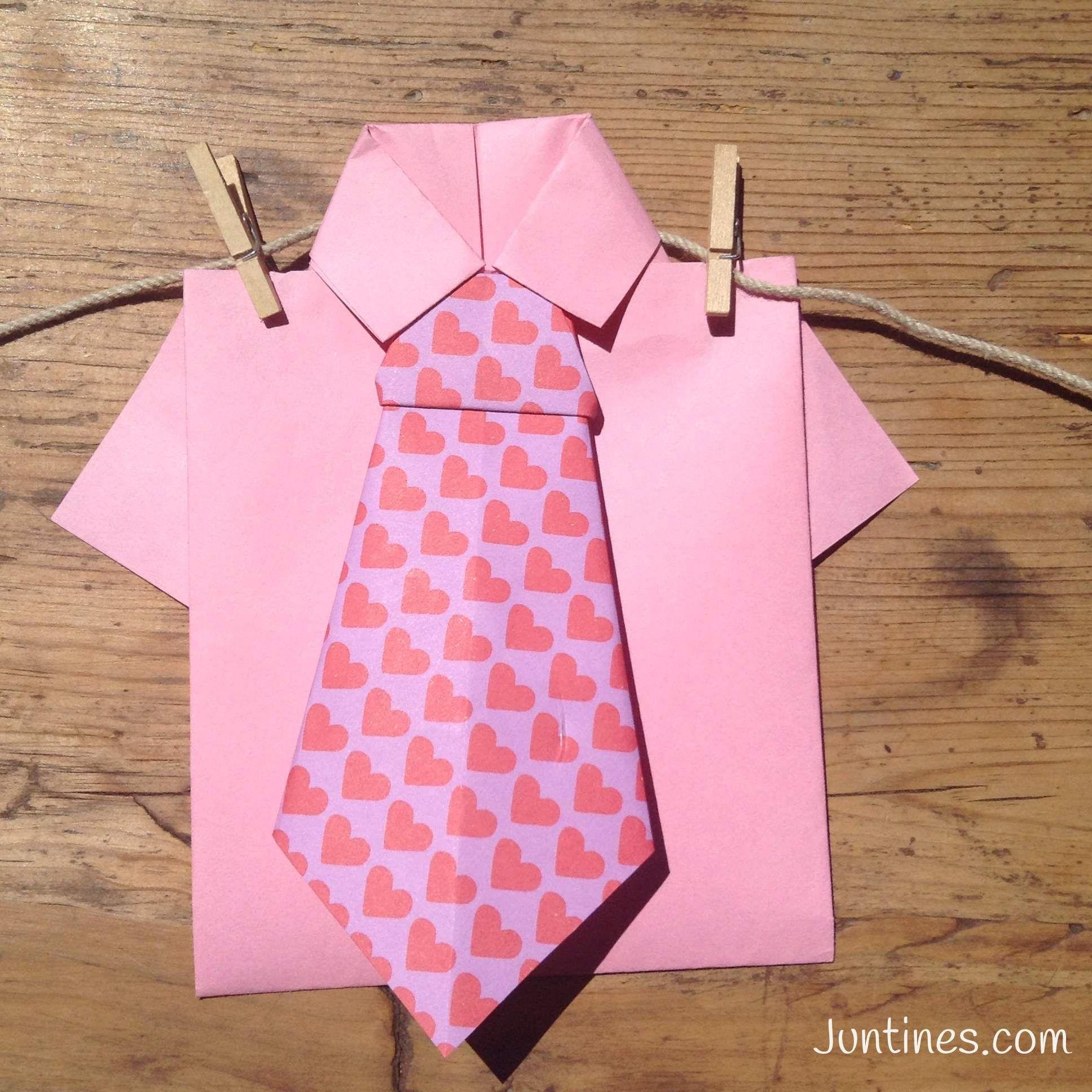 Corbata de origami - Origami tie. Origami fácil para niños ...