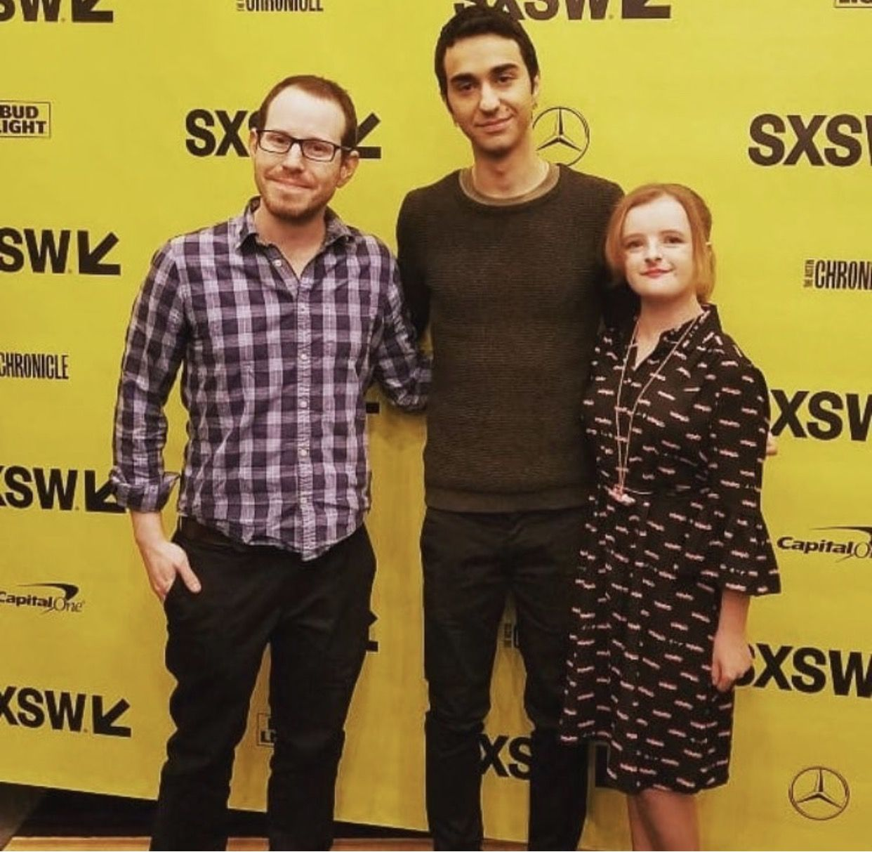 Ari Aster Alex Wolff And Milly Shapiro At SXSW For Hereditary