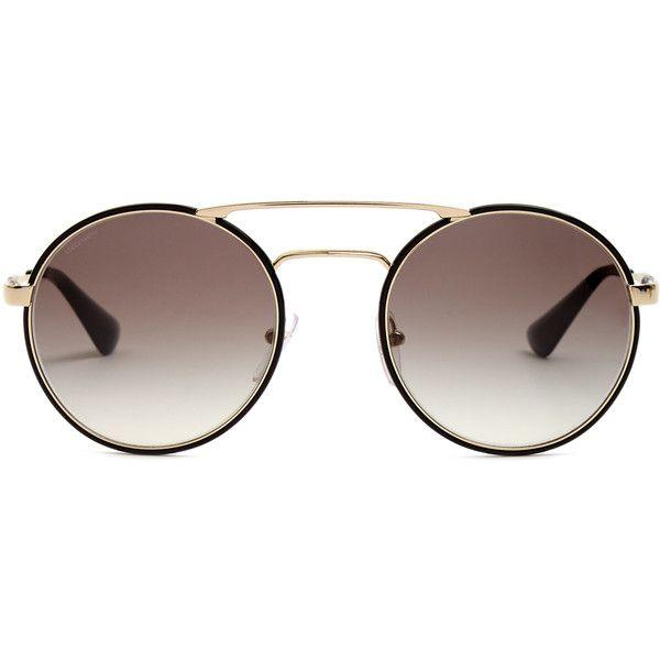 cd779eeaa1d Prada Eyewear Round-frame sunglasses (345 AUD) ❤ liked on Polyvore  featuring accessories