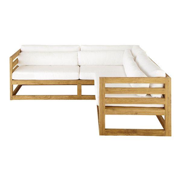3 4 Sitziges Eck Gartensofa Aus Teak Cyclades Sofa Design Lounge Mobel Gartensofa