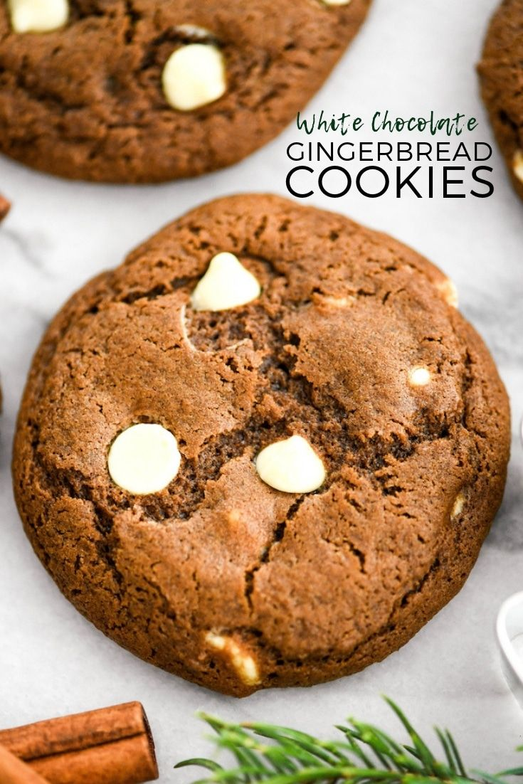 White Chocolate Chip Gingerbread Cookies recipe