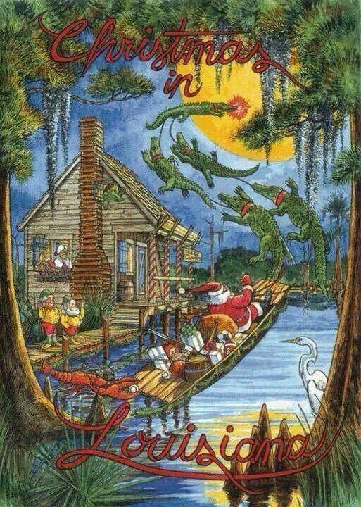 Beautifullouisiana Louisiana Christmas Cajun Night Before Christmas Louisiana Art