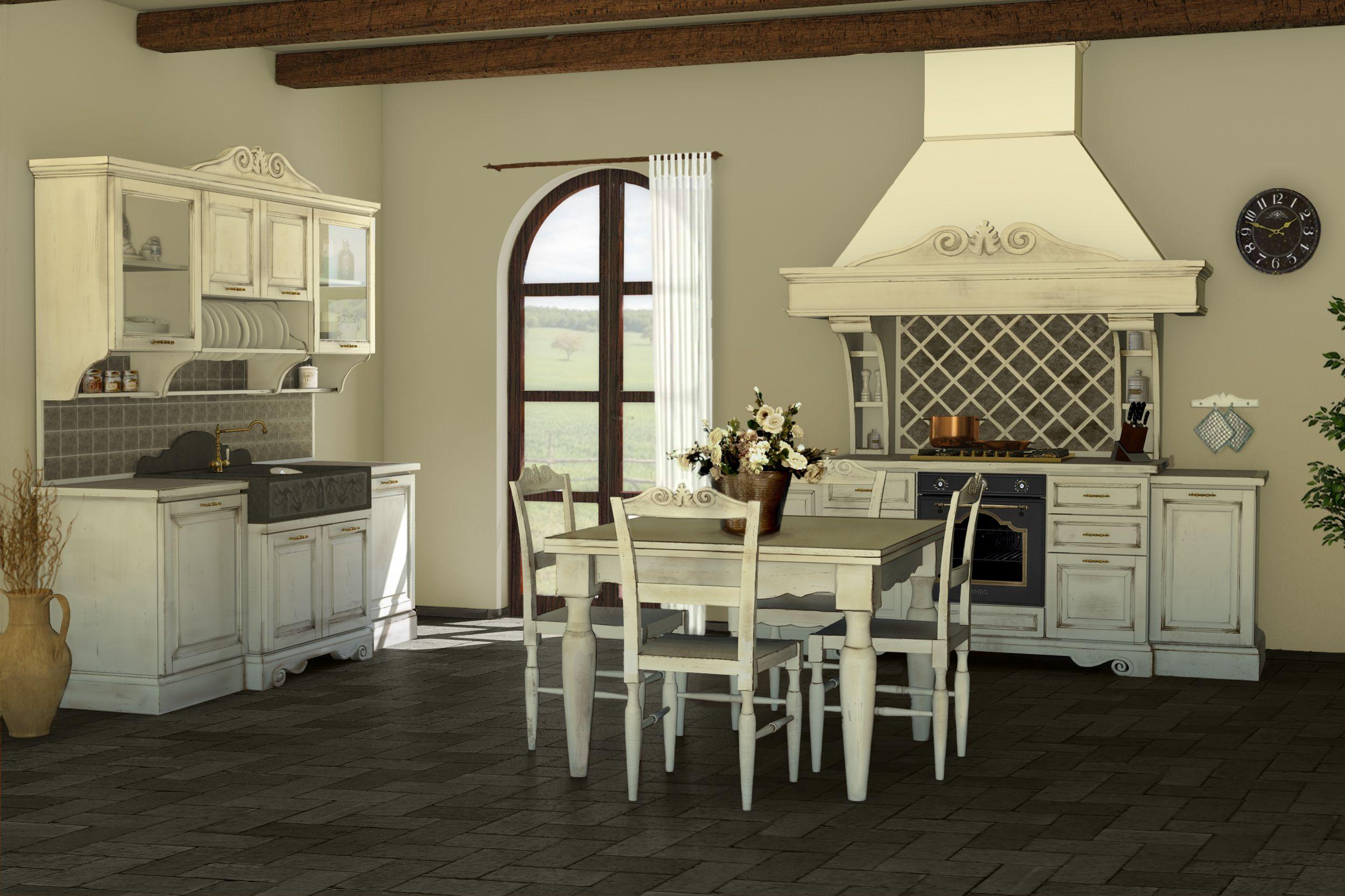 Blocco lavello blocco cucina tavolo e sedie intagliate for Sedie legno cucina