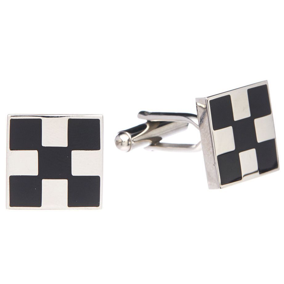 James Cavolini Stainless Steel and Cuff Links